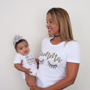 mommy and baby matching shirts- mamma, got it from my mamma