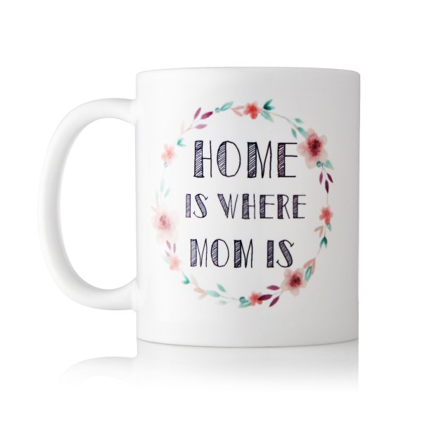 Baby Touch Home is where mom is mug